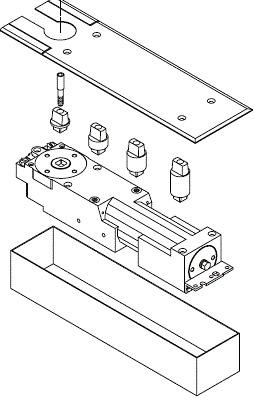 650 Series Floor Spring (Non Hold-Open)
