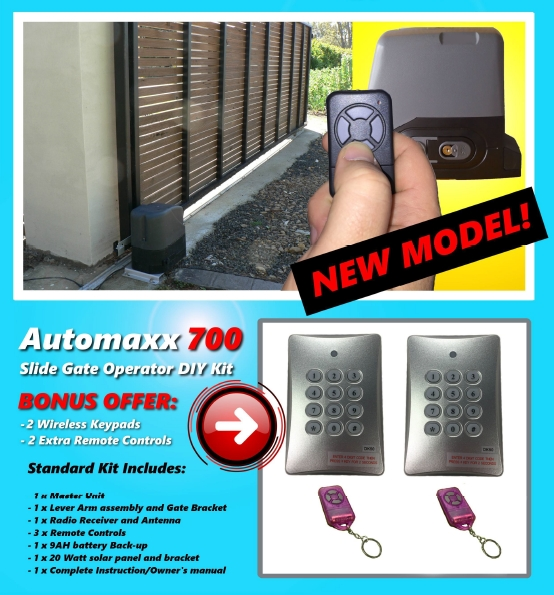 AUTOMAXX700 Slide Gate Operator Kit